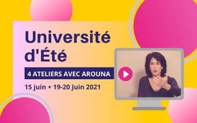 Université d'Été • 15, 19 et 20 juin 2021
