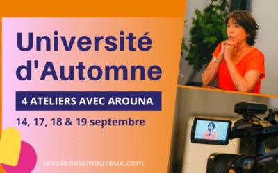 Université d'Automne • 14, 17, 18 et 19 septembre 2021